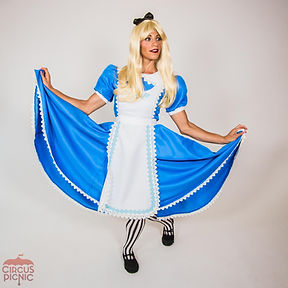 CIRCUS PICNIC Wonderland Main Character, Alice Adventures Down the Rabbit Hole, Entertainer at Company Picnic
