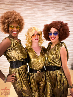 Be Entertained by Gold Glam Dancers