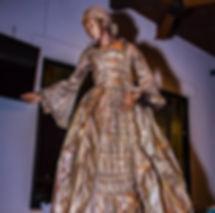 Gold Victorian Dress Living Statue