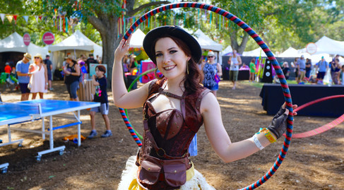 Steampunk Performers Austin, Immersive Play Experience, Event Entertainers Performers, CIRCUS PICNIC Circus Style, Steampunk Themed Party
