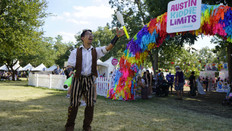 Circus Art Festivals, Featured Juggler, Immersive Play Experience, 1812, the CIRCUS PICNIC Steampunk  Aeronauts Party at ACL