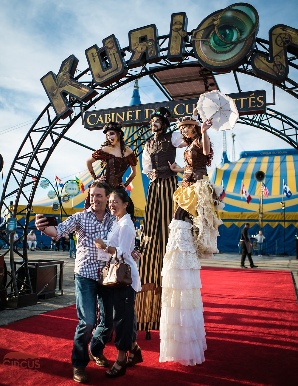Posing for a selfie at the Cirque Du Soleil's Kurios Show  Grand Opening in Houston Texas