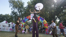 Stilt Walker Within Jugglers, CIRCUS PICNIC Art Performers, Entertainers, Steampunk Circus Party Theme