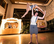 Daring Acrobats Performances, Bend with the Acrobats at CIRCUS Themed Corporate Party, Spectacular Night of Creativity and Art, Texas