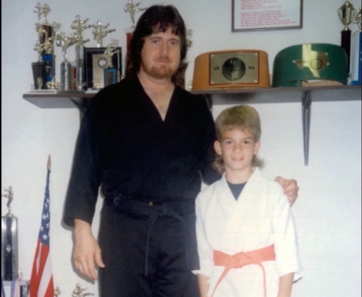 Training with karate coach