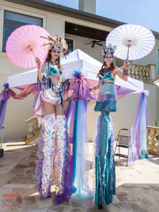 Towering Mermaid Princesses, CIRCUS PICNIC Circus Mermaid Theme Party Entertainment, Houston  Texas