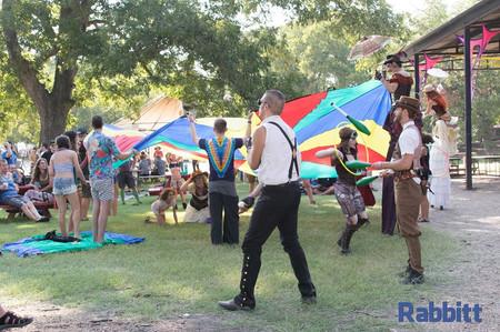 Steampunk Circus Art Festivals, Austin Texas, Houston Texas, Dallas Texas, San Antonio Texas, Circus Picnic Circus Theme Party, Steampunk Aeronautic Crash Land Theme Party at ACL and Art Outside