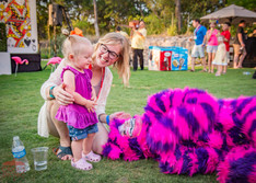 Purple Baby and the Purple Cat, Unforgettable Childhood Experience at CIRCUS Picnic Wonderland Themed Corporate Party, Texas, Wonderland Cast, Entertainers and Performers