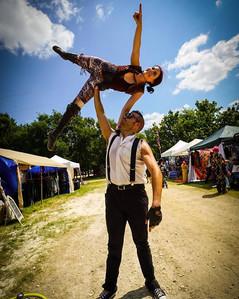 The Party Acrobat,  The Circus Picnic 1812 Steampunk Aeronauts Theme Party, Austin City Limits, Austin Texas