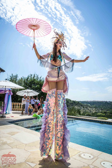 Wonders of the Sea, Fantastic Stilt Walker Sea Princess, Strolling Party Character, Entertainment, Austin Company Themed Party Idea