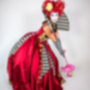 CIRCUS PICNIC Wonderland Sassy Actor, Fantasy World Queen of Hearts
