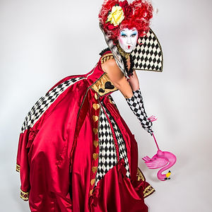 CIRCUS PICNIC Wonderland Sassy Actor, Fantasy World Queen of Hearts