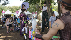Party Goers and The Performers, Fun Circus Experience, CIRCUS PICNIC Theme Party Idea, Austin City Limits