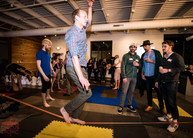 Slack lining Party Activity, Challenging Activity Experience, CIRCUS Cirque Way Party, Texas