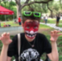 Dinosaur Design Face Painter for Events in Austin, Texas