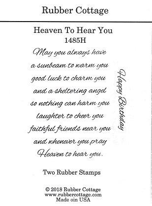 HEAVEN TO HEAR YOU