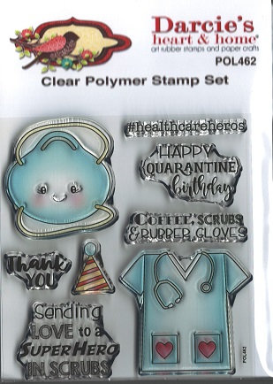 POL462     SCRUBS HERO   CLEAR STAMP SET