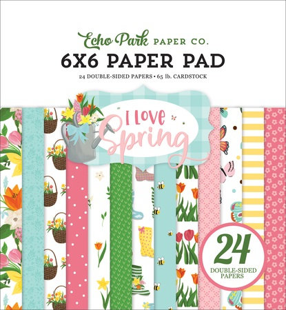 I LOVE SPRING 6X6 PAPER PAD LSP204023