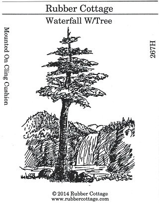 WATERFALL W/TREE
