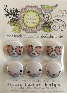 DONUT MISS EASTER TIN PIN