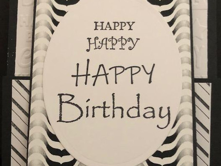 And yet another one! Black and White Happy Birthday Gift Card Holder Part 3