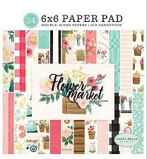 CARTA BELLA FLOWER MARKET 6X6 PAPER PAD
