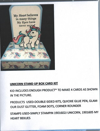 UNICORN STAND UP BOX CARD KIT