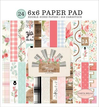 FARMHOUSE MARKET  6X6 PAPER PAD CBFAR113023