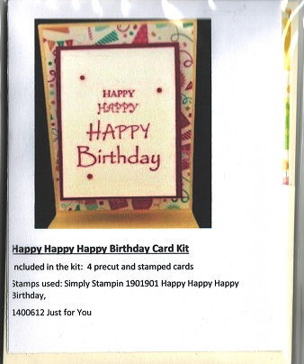 HAPPY HAPPY HAPPY BIRTHDAY CARD KIT