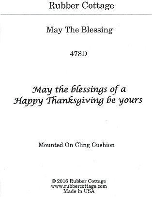 MAY THE BLESSING