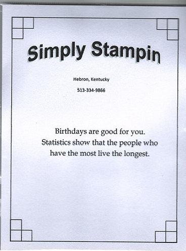 1400101 BIRTHDAYS ARE GOOD