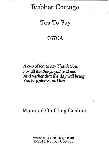 TEA TO SAY