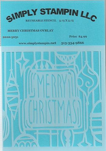 MERRY CHRISTMAS OVERLAY    2020-5031