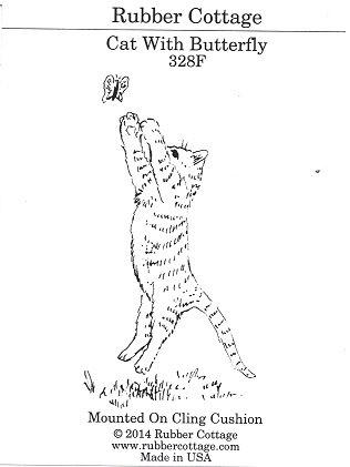 CAT W/BUTTERFLY
