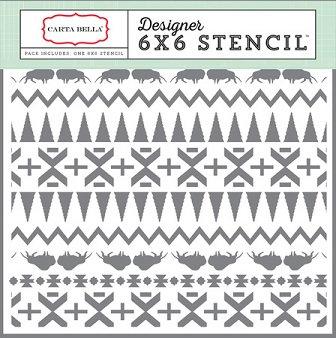 STENCIL INDIAN BLANKET CBG055034