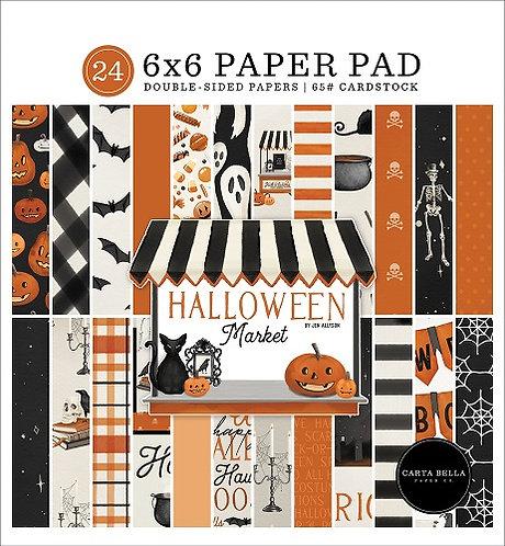 HALLOWEEN MARKET 6X6 PAPER PAD CBHM121023