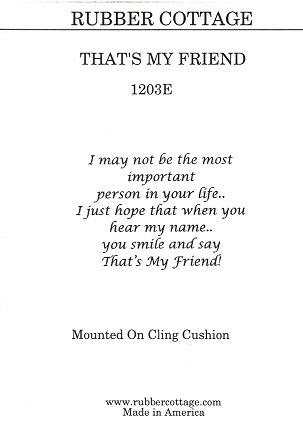 THAT'S MY FRIEND