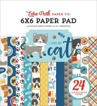 I LOVE MY CAT 6X6 PAPER PAD LMC199023