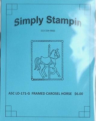 FRAMED CAROSEL HORSE