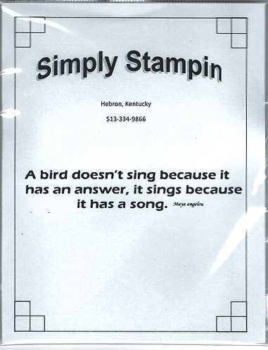 1800904 A BIRD DOESN'T SING