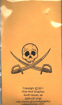 PIRATE SKULL    MS8020