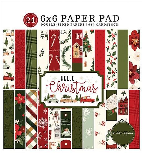 HELLO CHRISTMAS 6X6 PAPER PAD CBHC124023