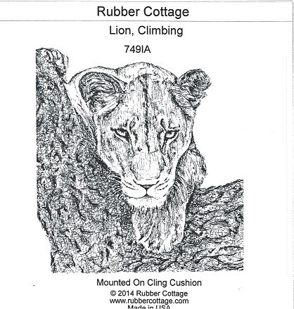 LARGE CLIMBING LION
