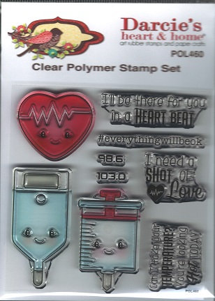 POL460    SHOT OF LOVE    CLEAR STAMP SET