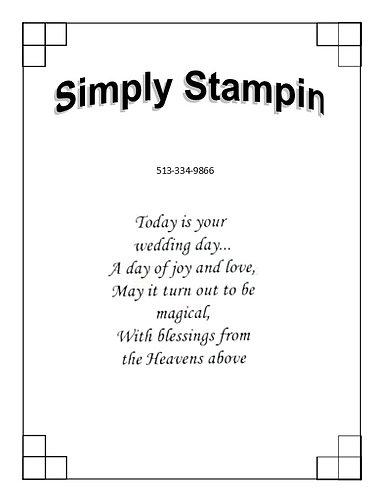 TODAY IS YOUR WEDDING DAY