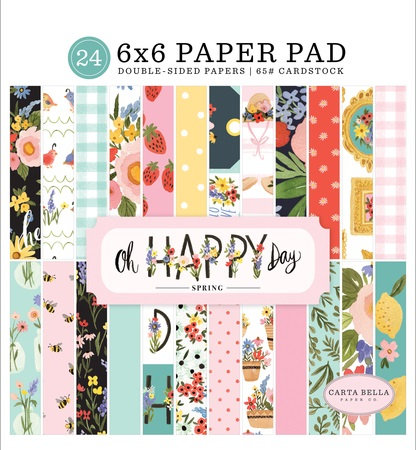 OH HAPPY DAY 6X6 PAPER PAD CBOHD112023