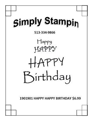 1901901 HAPPY HAPPY BIRTHDAY