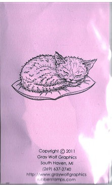 SLEEPING KITTEN  ANL1103