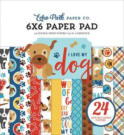I LOVE MY DOG 6X6 PAPER PAD LMD198023