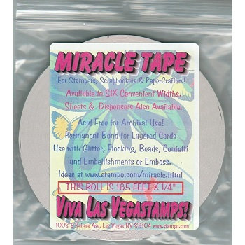MIRACLE TAPE 1/4 OR 3/8  INCH X 165 FT